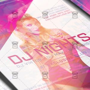Download Dj Nights PSD Flyer Template Now
