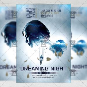 Download Dreaming Night PSD Flyer Template Now