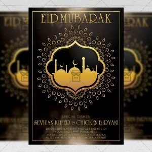 Download Eid Mubarak PSD Flyer Template Now