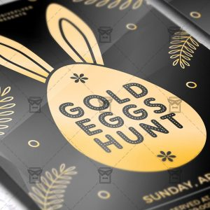 Download Gold Eggs Hunt PSD Flyer Template Now