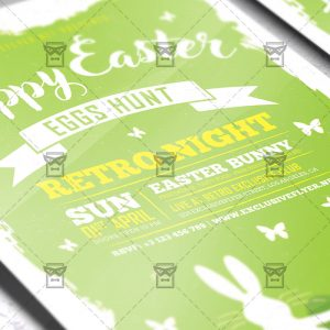 Download Happy Easter Celebration 2018 PSD Flyer Template Now