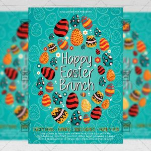 Download Happy Easter Brunch PSD Flyer Template Now