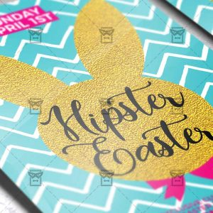 Download Hipster Easter PSD Flyer Template Now