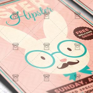 Download Hipster Easter Party PSD Flyer Template Now