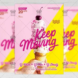 Download Keep Moving PSD Flyer Template Now