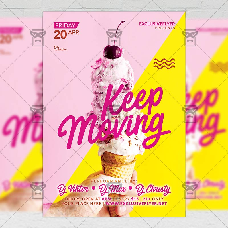keep moving club a5 flyer template exclsiveflyer free and premium psd templates. Black Bedroom Furniture Sets. Home Design Ideas