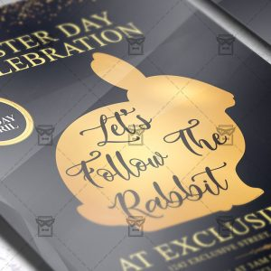 Download Let's Follow the Rabbit PSD Flyer Template Now