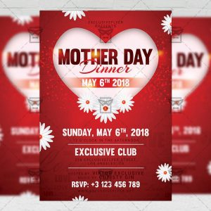 Download Mother Day Dinner PSD Flyer Template Now