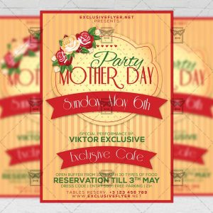 Download Mother Day Party PSD Flyer Template Now