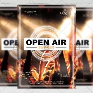 Download Open Air Summer Party PSD Flyer Template Now