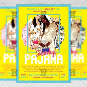 Download Pajama Saturdays PSD Flyer Template Now