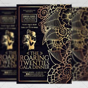Download Roaring Twenties PSD Flyer Template Now