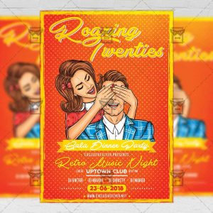 Download Roaring Twenties Party PSD Flyer Template Now