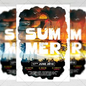 Download The Summer Bash PSD Flyer Template Now