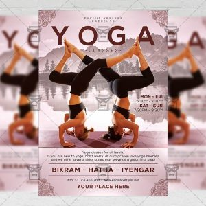 Download Exclusive Yoga Classes PSD Flyer Template Now