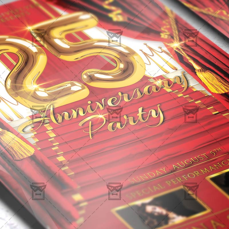 Club A5 Flyer Template