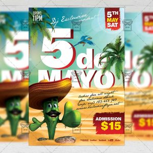 Download 5 De Mayo Fiesta PSD Flyer Template Now