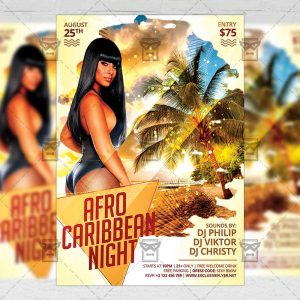 Download Afro Caribbean Night PSD Flyer Template Now
