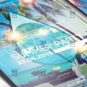 Download Beach Summer Party PSD Flyer Template Now