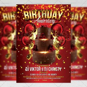 Download Birthday Anniversary Flyer PSD Flyer Template Now