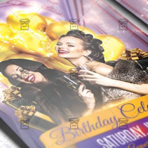 Download Birthday Celebration PSD Flyer Template Now