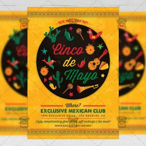 Download Cinco De Mayo Fiesta Flyer PSD Flyer Template Now