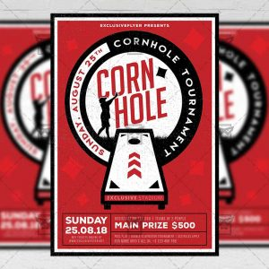 Download Cornhole Tournament PSD Flyer Template Now