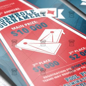 Download Cornhole Tournament Event PSD Flyer Template Now