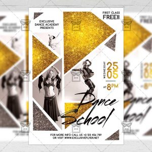 Download Dance School PSD Flyer Template Now