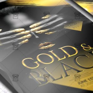 Download Gold and Black Party PSD Flyer Template Now