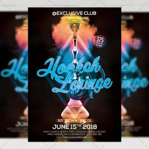 Download Hookah Lounge PSD Flyer Template Now