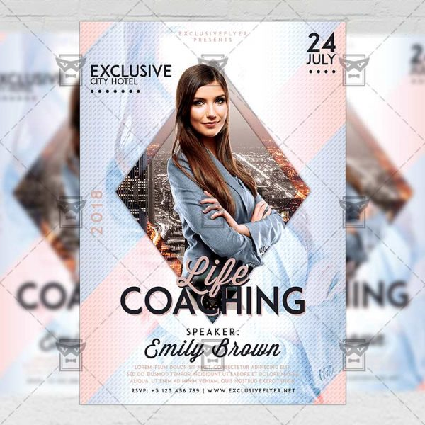 Download Life CoachingPSD Flyer Template Now