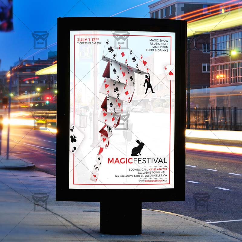 Download Magic Festival PSD Flyer Template Now