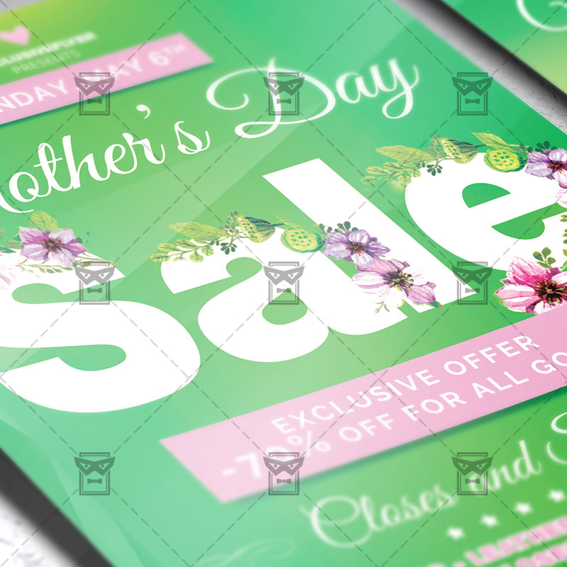 Mothers Day Flyer: Mom Day Sale €� Seasonal A5 Flyer Template