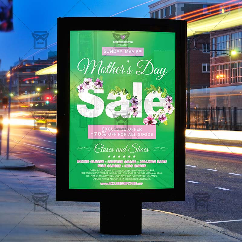 Mothers Day Sale Flyer Psd Template: Mom Day Sale €� Seasonal A5 Flyer Template