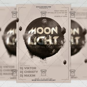 Download Moon Light Night PSD Flyer Template Now