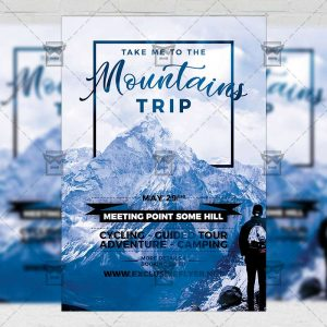 Download Mountains Trip PSD Flyer Template Now