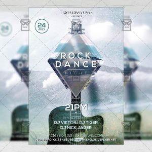 Download Rock Dance Night PSD Flyer Template Now