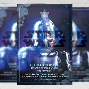 Download Star Wars Night PSD Flyer Template Now