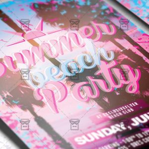 Download Summer Beach Party PSD Flyer Template Now