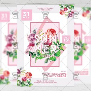 Download Summer Saturdays PSD Flyer Template Now