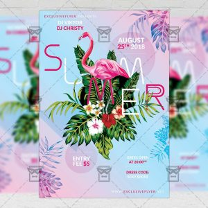 Download Summers PSD Flyer Template Now
