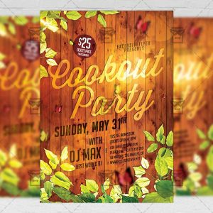 Download The Cookout Party PSD Flyer Template Now