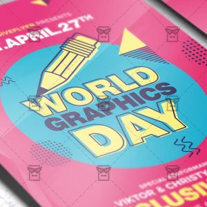 Download World Graphics Day PSD Flyer Template Now