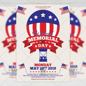 Download Memorial Day Weekend PSD Flyer Template Now