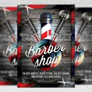 Download Barber Shop PSD Flyer Template Now