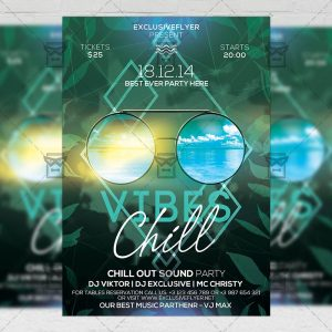 Download Chill Vibes PSD Flyer Template Now