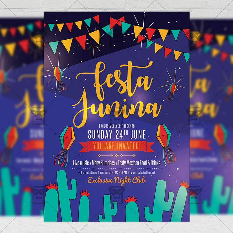 Mom Day Sale Ͽ� Seasonal A5 Flyer Template: Festa Junina Flyer €� Seasonal A5 Template