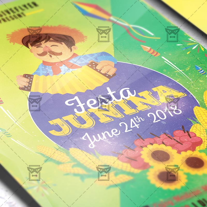Mom Day Sale Ͽ� Seasonal A5 Flyer Template: Festa Junina Poster €� Seasonal A5 Template