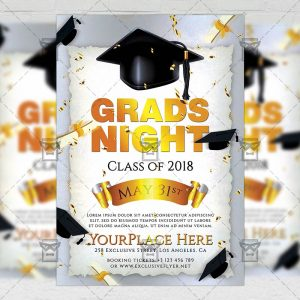 Download Grads Night PSD Flyer Template Now